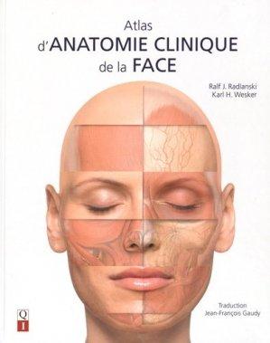 Atlas d'anatomie clinique de la face - quintessence international - 9782366150292
