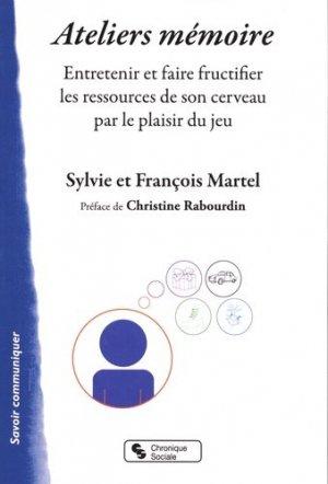 Ateliers mémoire - Chronique Sociale - 9782367176413 -