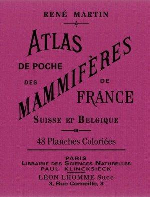 Atlas de poche des mammifères de France, Suisse et Belgique - bibliomane - 9782367430379 -