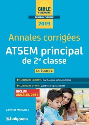 ATSEM principal de 2e classe - studyrama - 9782759039753 -