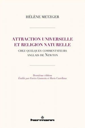 Attraction universelle et religion naturelle - Hermann - 9791037007049 -