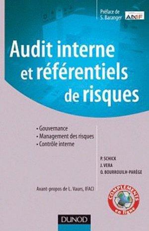 Audit interne et référentiels de risque - Dunod - 9782100549825 -
