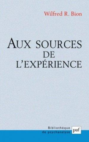 Aux sources de l'expérience - puf - presses universitaires de france - 9782130534860 -