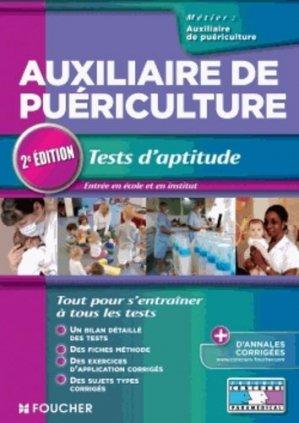Auxiliaire de puériculture Tests d'aptitude - foucher - 9782216122455