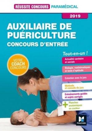 Auxiliaire de puériculture -Concours d'entrée 2019 - foucher - 9782216149643 -