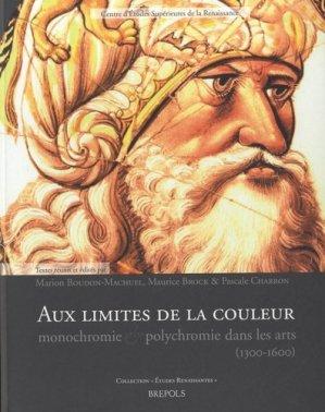 Aux limites de la couleur. Monochromie et polychromie dans les arts (1300-1600) - Brepols - 9782503542225 -