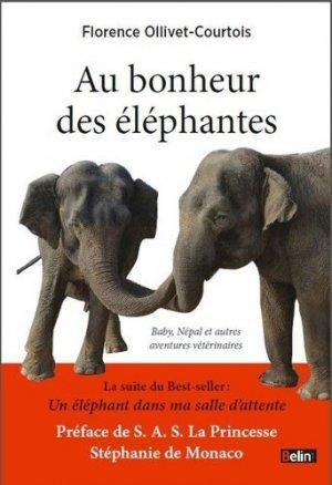 Au bonheur des éléphantes - belin - 9782701190693 -