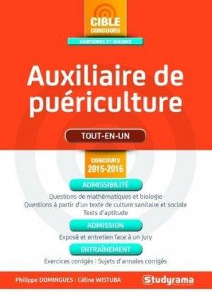 Auxiliaire de puériculture - Concours 2015 - 2016 - studyrama - 9782759029754 -