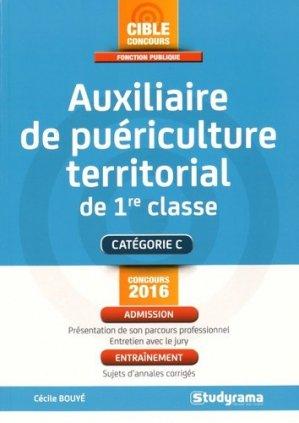 Auxiliaire de puériculture territorial de 1re classe - studyrama - 9782759031276 -