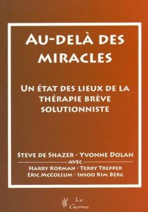 Au-delà des miracles - satas - 9782872930999 -