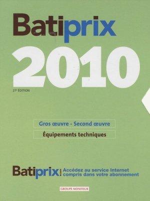 Batiprix 2010 - groupe moniteur - 9782281114690 -