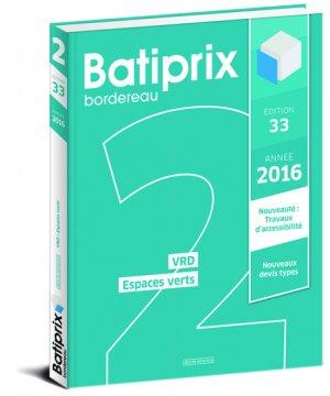 Batiprix 2016 Volume 2 - groupe moniteur - 9782281119794 -