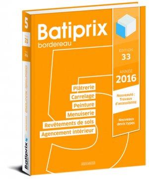 Batiprix 2016 Volume 5 - groupe moniteur - 9782281119824 -