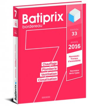 Batiprix 2016 Volume 7 - groupe moniteur - 9782281119848 -