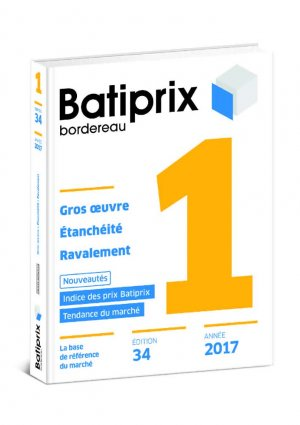 Batiprix 2017 Volume 1 - groupe moniteur - 9782281141115 -