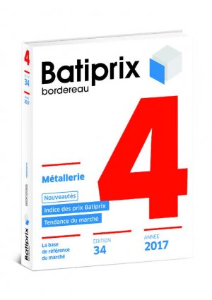 Batiprix 2017 Volume 4 - groupe moniteur - 9782281141146 -