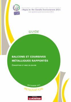 Balcons et coursives métalliques rapportés -Rénovation - le moniteur - 9782281150308 -