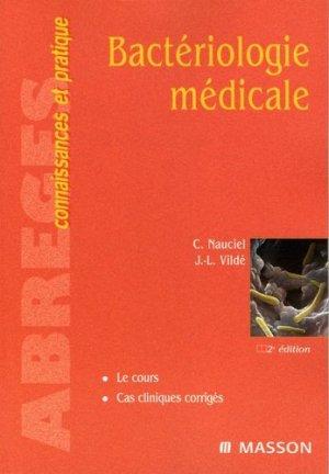Bactériologie médicale - elsevier / masson - 9782294018589 -