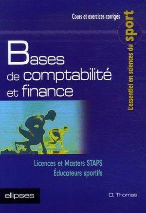 Bases de comptabilité et finance - Ellipses - 9782729827410 -