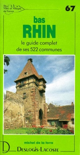 Bas-Rhin - Deslogis-Lacoste - 9782739950672 -