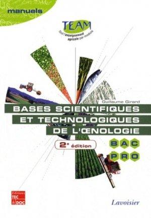 Bases scientifiques et technologiques de l'oenologie - lavoisier / tec et doc - 9782743013462 -