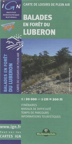 Balades en forêt du Luberon - office national des forêts / ign - 9782758510864 -