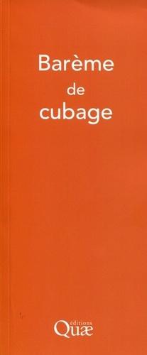 Barème de cubage - quae  - 9782759222360 -