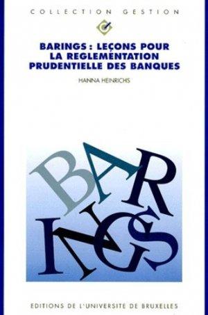 BARINGS. - Université de Bruxelles - 9782800411989 -