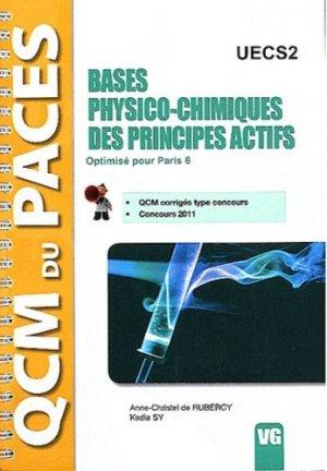 Bases physico-chimiques des principes actifs UECS2 - vernazobres grego - 9782818304976 -