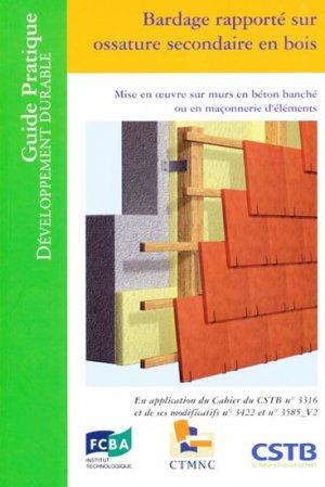 Bardage rapporté sur ossature en bois - cstb  - 9782868914224 -
