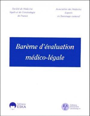 Barème d'évaluation médico-légale - eska / lacassagne - 9782869119680