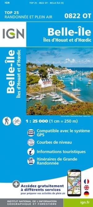 Belle-Ile, Houat et d'Hoedic - Institut Géographique National - 9782758551355 -