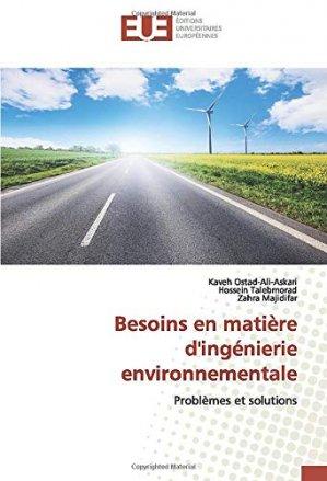 Besoins en matière d'ingénierie environnementale - editions universitaires europeennes - 9786139559312 -