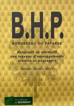 BHP Bordereau du paysage - de bionnay - 9782917465745 -