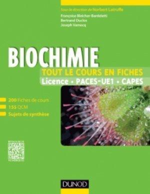 Biochimie - Tout le cours en fiches - dunod - 9782100599882 -