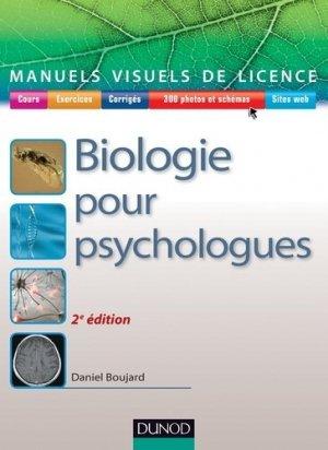Biologie pour psychologues - dunod - 9782100710362 -