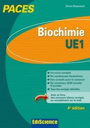 Biochimie- UE1 - édiscience - 9782100727568 -