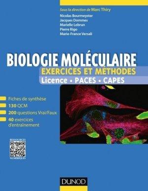 Biologie moléculaire - Exercices et méthodes - dunod - 9782100743261 -