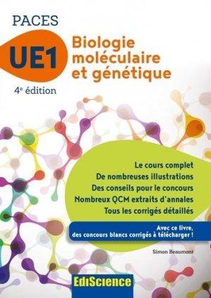 Biologie moléculaire-Génétique UE1 PACES - édiscience - 9782100748815 -