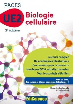 Biologie cellulaire-UE2 PACES - édiscience - 9782100748822 -