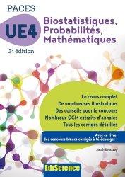 Biostatistiques Probabilités Mathématiques-UE 4 PACES - édiscience - 9782100748839