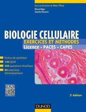 Biologie cellulaire - Exercices et méthodes - dunod - 9782100754854 -