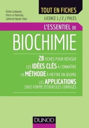 Biochimie - Licence 1 et 2 - dunod - 9782100777099