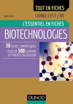 Biotechnologies - Licence 1/2 - dunod - 9782100796069