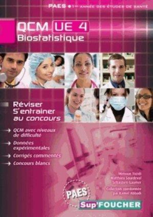 Biostatistique QCM UE4 - foucher - 9782216121328 -