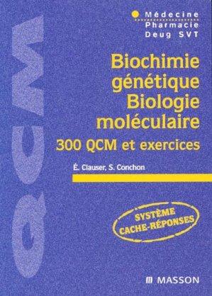 Biochimie génétique  - Biologie moléculaire - elsevier / masson - 9782294012914
