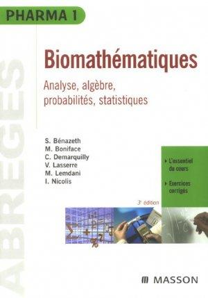 Biomathématiques - elsevier / masson - 9782294072321 -