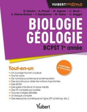Biologie géologie BCPST 1re année - vuibert - 9782311404012 -