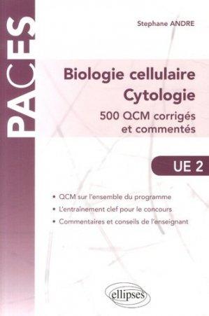 Biologie cellulaire, Cytologie - ellipses - 9782340002654 -