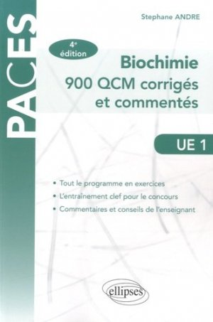 Biochimie UE1 - ellipses - 9782340008564